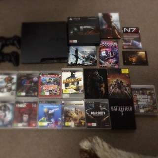 PS3 Console With 2 Controllers 13 Games And PlayStation Move