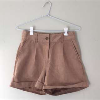 S6-8 - Suede Look High Waisted Pants