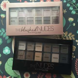 Maybelline nude palettes