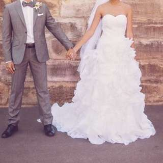 Diamond White Bodice Wedding Dress