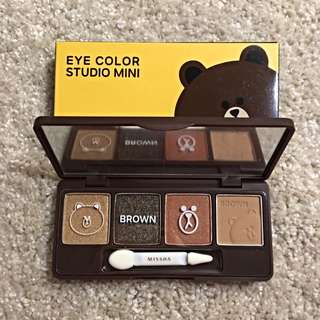 Missha Eye Color Studio Mini #2 Brown Brownie