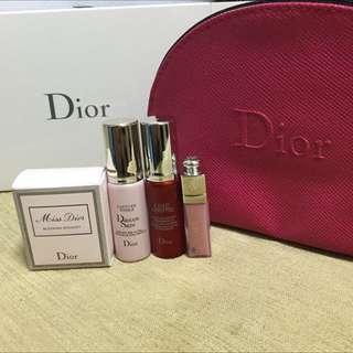 Dior香氛組-含保養品及化妝包