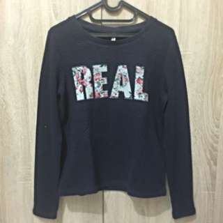 BERSHKA Blue Sweater