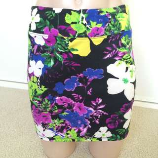 Floral Dotti Mini Skirt