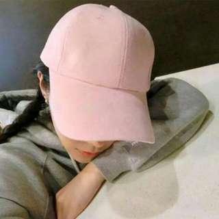 粉色麂皮老帽