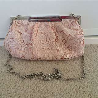 Betts Lace Pink Clutch Hand Bag BNWOT