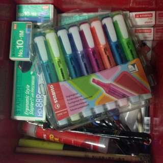 Box Of Stationaries And Foolscap ......