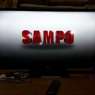 9.9 成新 Sampo 32吋 Led  液晶電視  全國電子保固三年,有保固書 2016.05.27購買