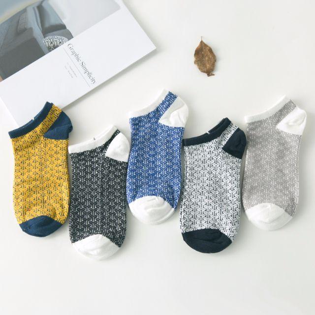 [買4送1]✨網格系✨韓系男襪 短襪 男襪 船襪 低筒襪 襪子 🎀