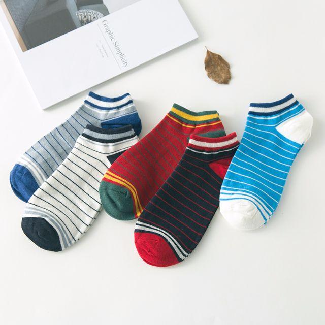[買4送1]✨橫條系✨韓系男襪 短襪 男襪 船襪 低筒襪 襪子 🎀