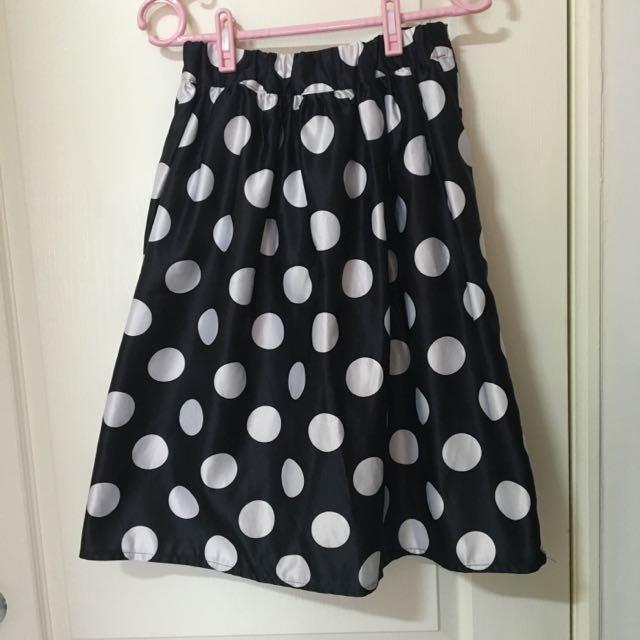 復古黑白點點裙