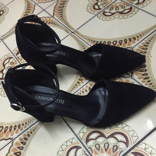 降☀️含運 黑色尖頭 跟鞋 高跟鞋
