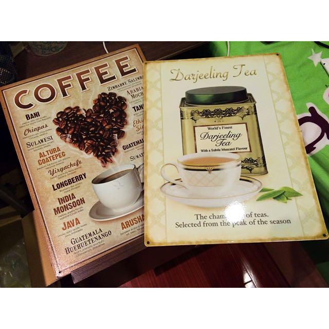 壁掛牌飾_Coffee&Tea