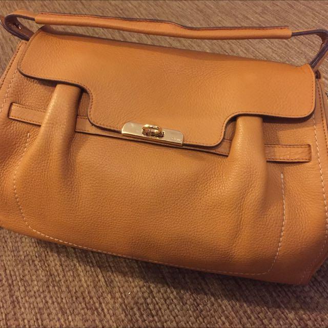 二手美品 SALVATORE FERRAGAMO 皮革 肩背包 手提包 側背包