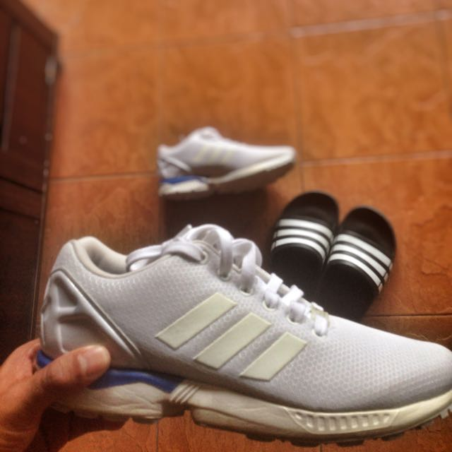 newest 809d3 0928c Adidas Zx Flux All White