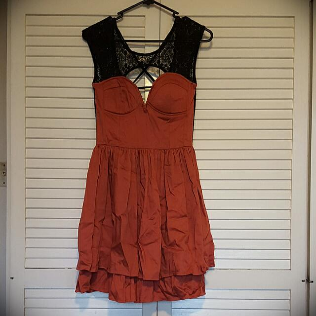 Angel Biba - Rust Skater Dress