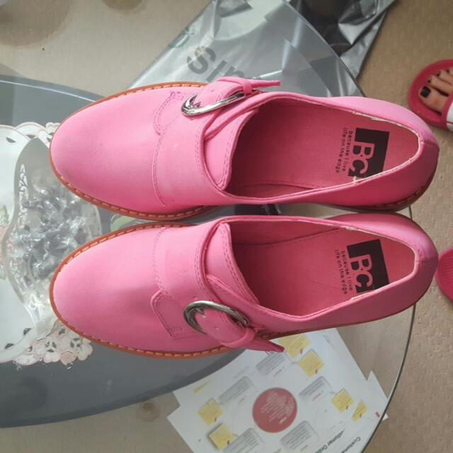 BC pink office shoes