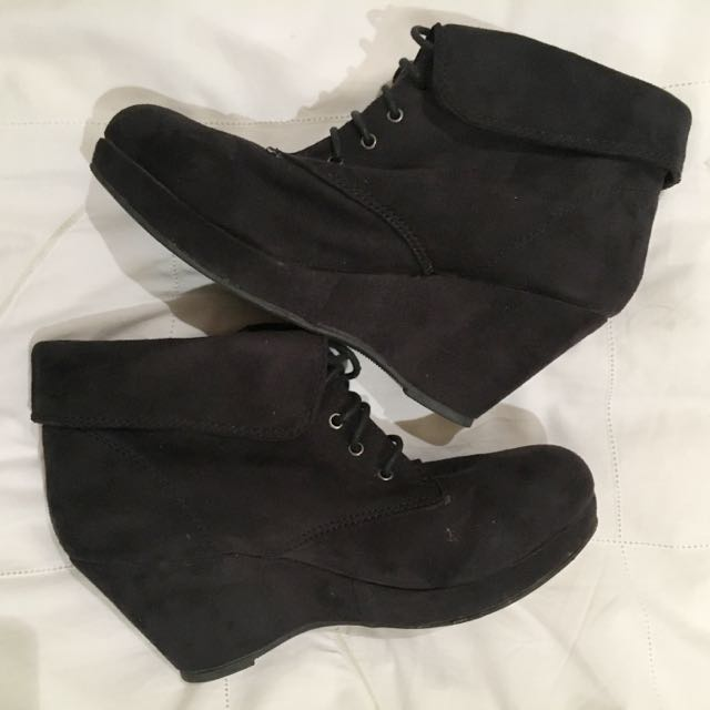Black Boots/Wedges