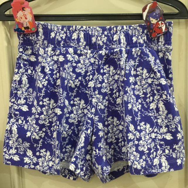 Blue Floral Short Pants (Uniqlo)
