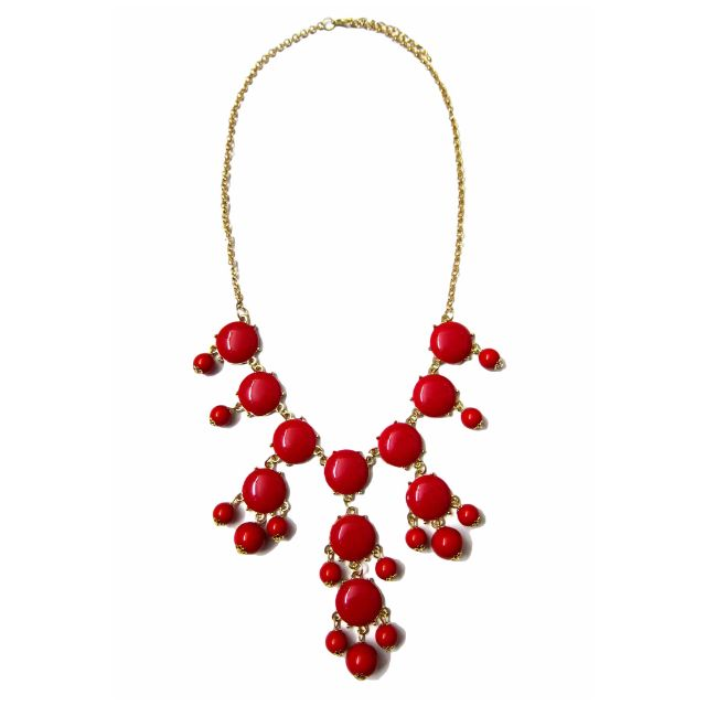 BOBBLE RED NECKLACE