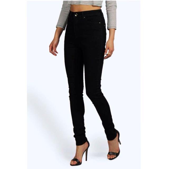 Boohoo Black High Waisted Skinny Jeans
