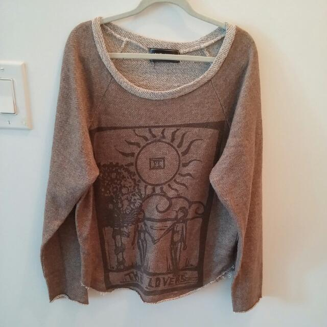 Brandy Melville Brown Sweatshirt