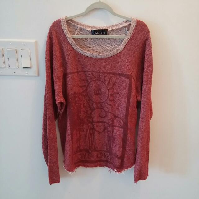 Brandy Melville Red Sweater