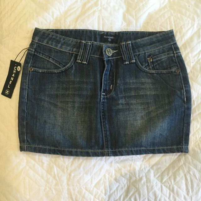 Chanel Denim Skirt Fits Size 6-8
