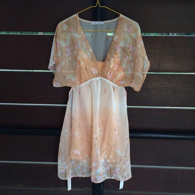 Chic Simple Chiffon Dress