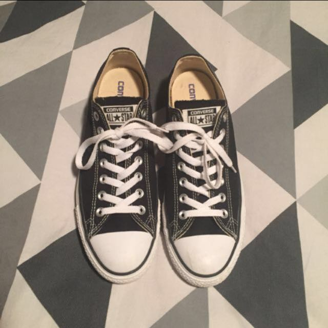 Converse Low Black And White