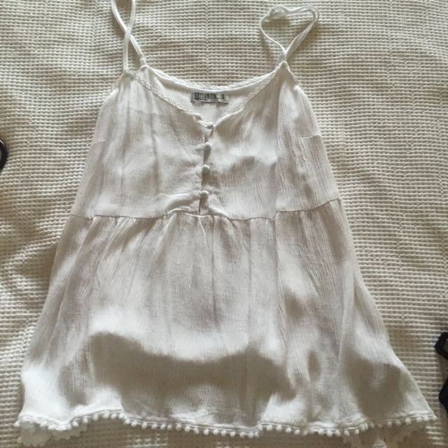Cotton On White Singlet