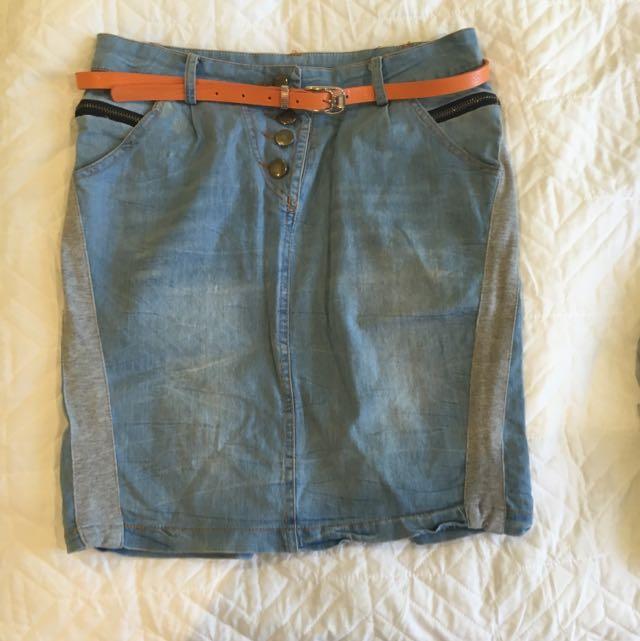 Denim Skirt Size Smalll