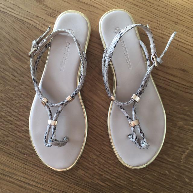 Gold Detail Sandals (38)