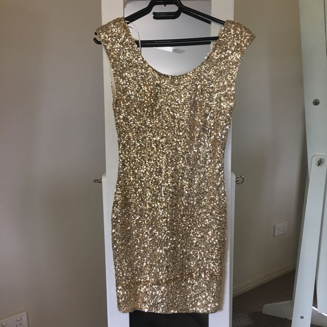Gold Sequin Bodycon Mini