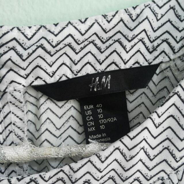 H&M Black & White Tribal Dress