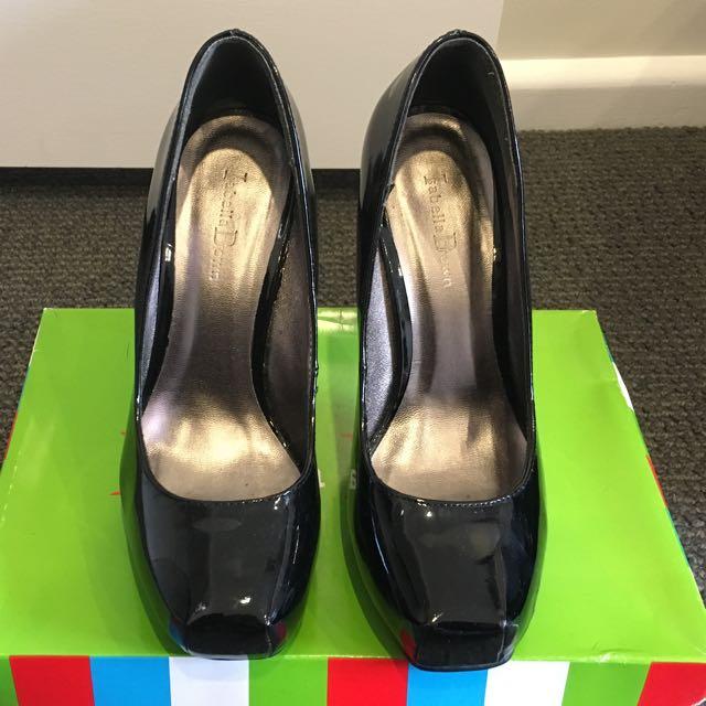 Isabella Brown Patent Heels