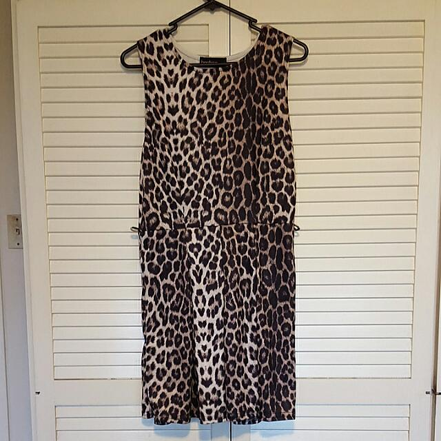 Leopard Skater Dress - BooHoo