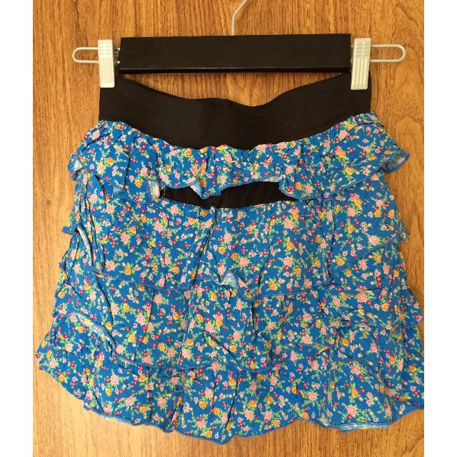 MATERIAL GIRL BLUE FLOWER PRINT SKIRT SIZE SMALL