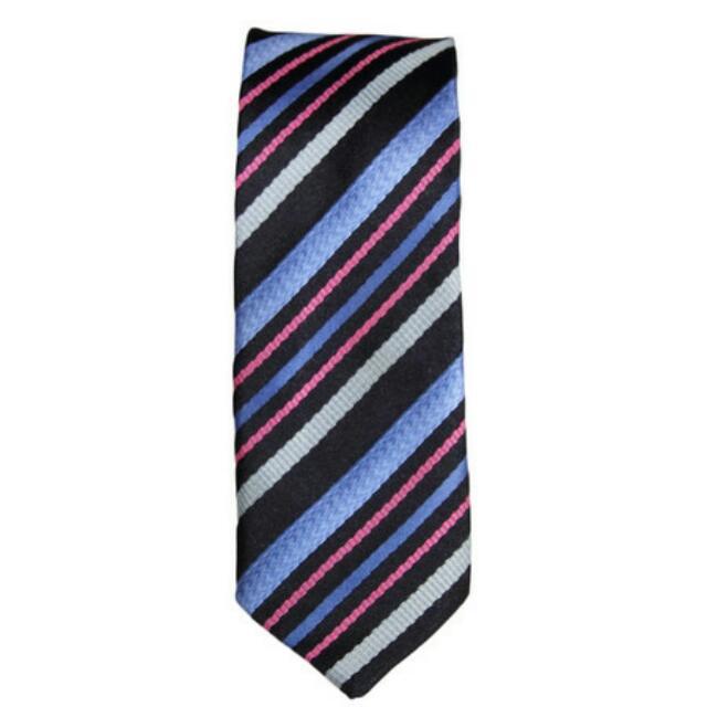 Men's Fashion Neck Tie Blue Pink Formal Wedding Silk Clothing