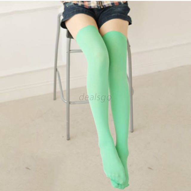 Mint Green Knee High Socks