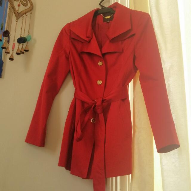 Red Trench Coat SIZE 6-8