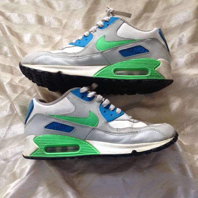 Nike Air Max 90's Blue And Green Size 7