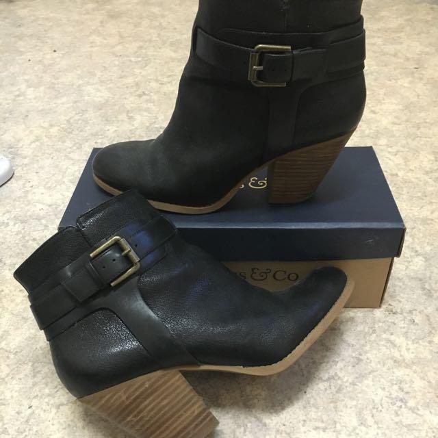 Nine West Black Boots 7.5