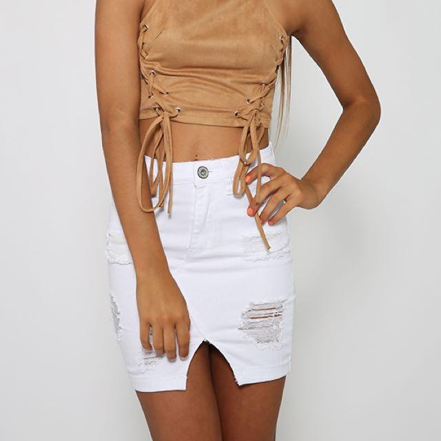 Peppermayo White Hamptons Skirt