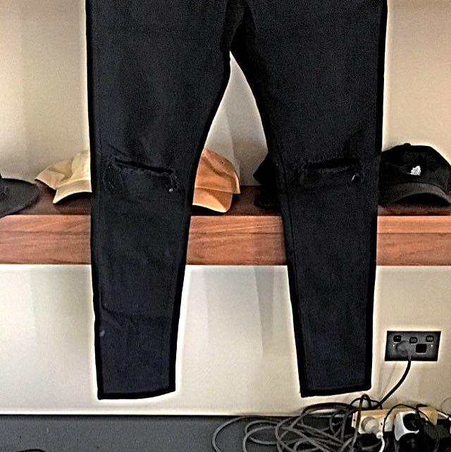 PM Black Ripped Skinny Jeans