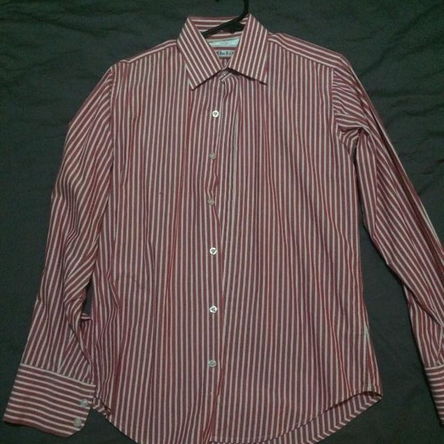 Red Stripe business Shirt