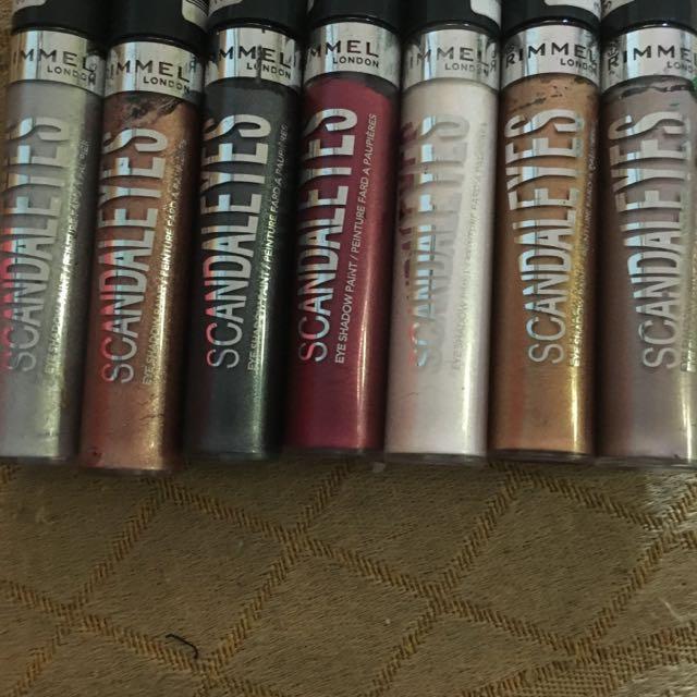 rimmel scandaleyes eyeshadow paint.