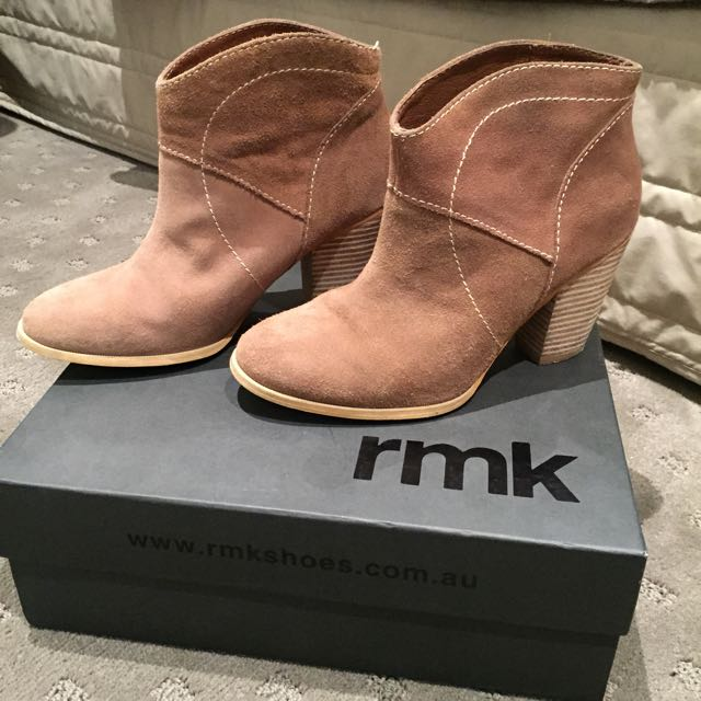 RMK Tan Ankle Boots Size 7