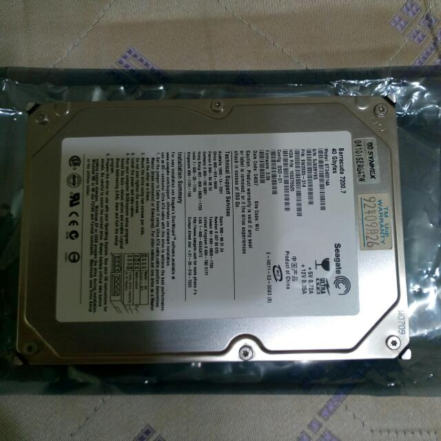 Seagate 希捷40G硬碟 IDE介面