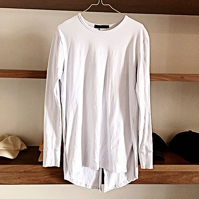 Skull Bone All White Long Sleeve Shirt